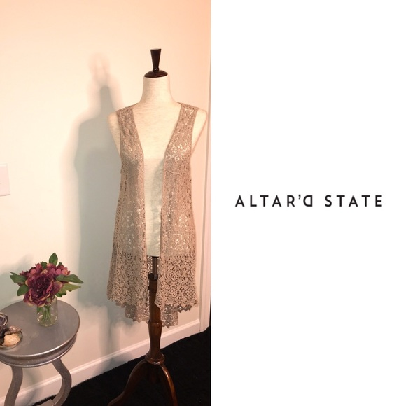 Altar'd State Other - 🍒Altar'd State crotchet longline duster